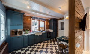 Линолеум на кухню под плитку фото