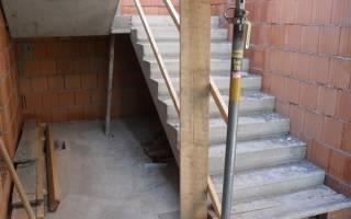 Как залить лестницу из бетона