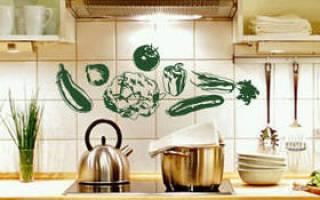 Наклейки на плитку на кухне