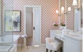 Моющие обои для ванной комнаты
