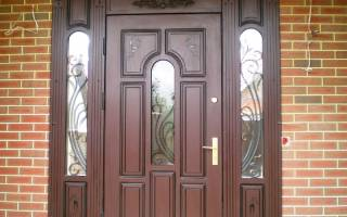 Как оформить входную дверь изнутри фото