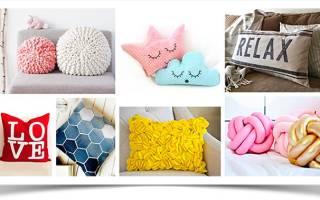 Чем набить подушку для дивана?