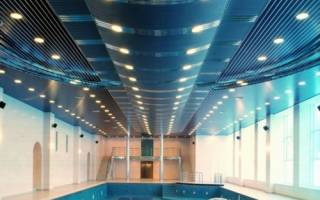 Потолок из алюминиевых панелей